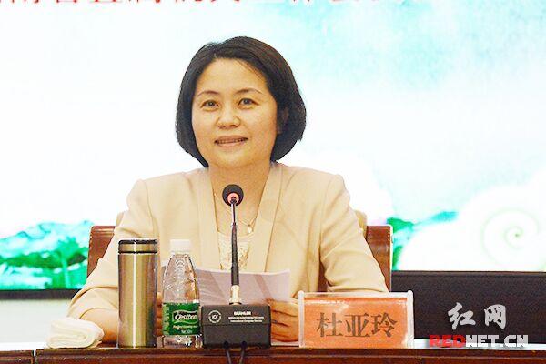 省妇联党组书记、主席杜亚玲致辞。