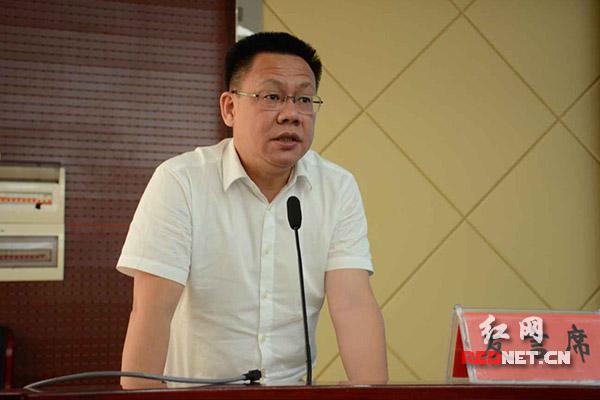 湖南出版集团党委委员、副总经理,中南传媒董事,红网党委书记、董事长舒斌作总结发言。