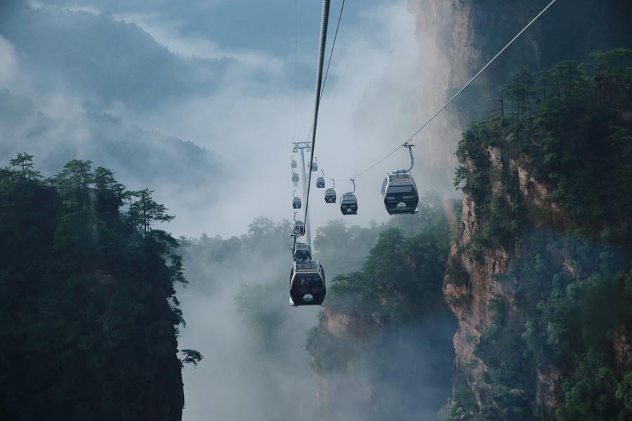 Fog scenery seen in Zhangjiajie