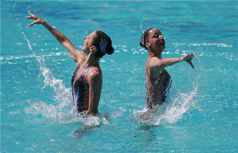 Chinese synchronized swimming duo advances into final