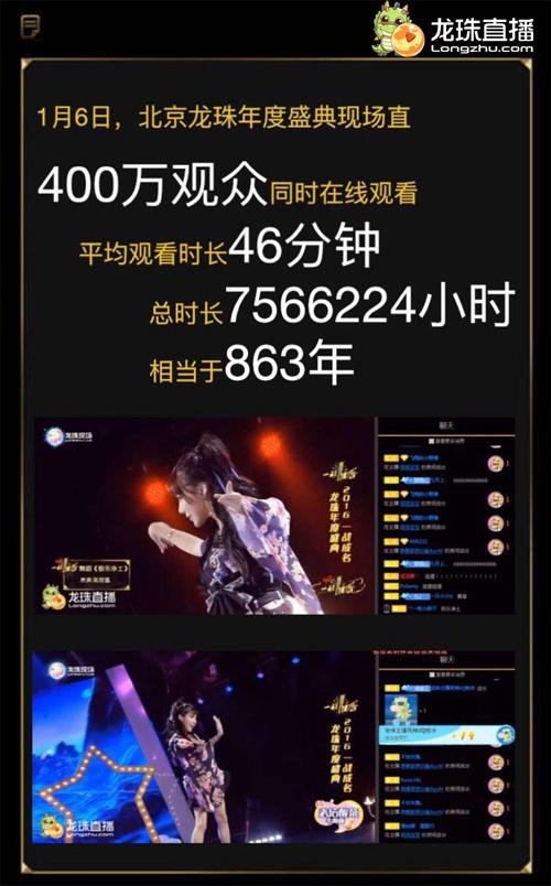 """2016龙珠直播年度盛典""""一战成名""""统计.jpg"""