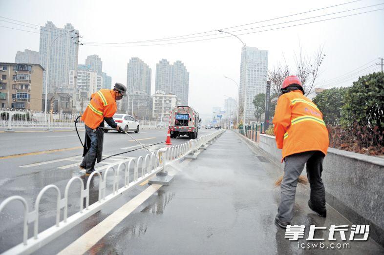 长沙城区道路清扫面积一年增500万㎡