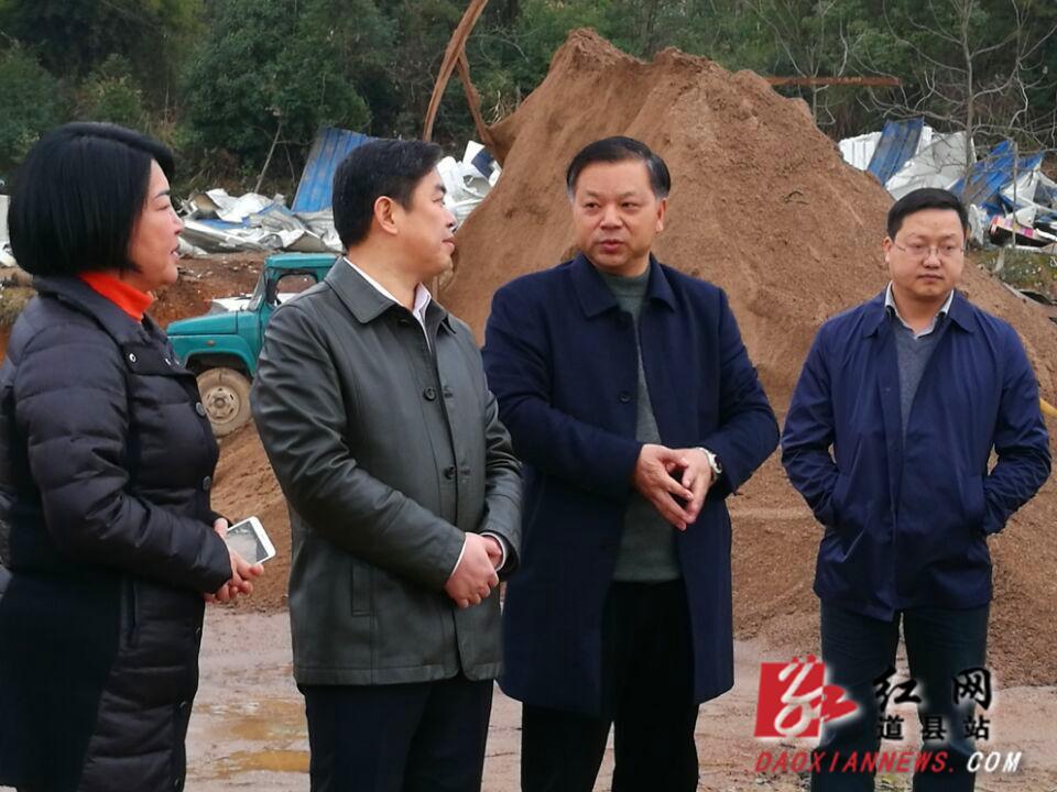 李天明带队开展道县春节前夕工作检查