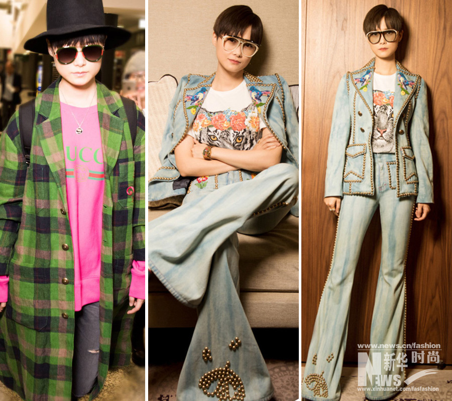 Chinese stars flaunt their style during fashion week