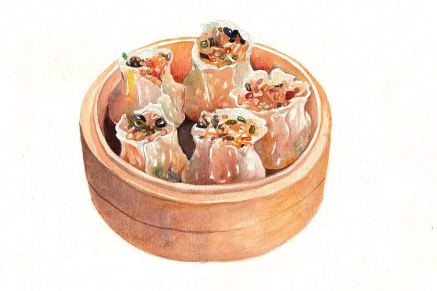 Sketches of Chinese breakfast make netizens' mouth water