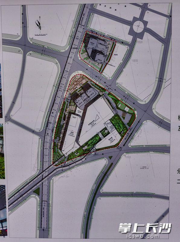 汽车南站项目规划图。