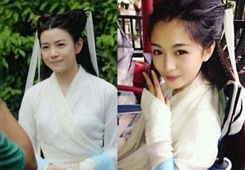 当小龙女遇上了替身,决定是替身美过本人,而陈妍希本身的婴儿肥也成为了史上脸最大的小龙女。