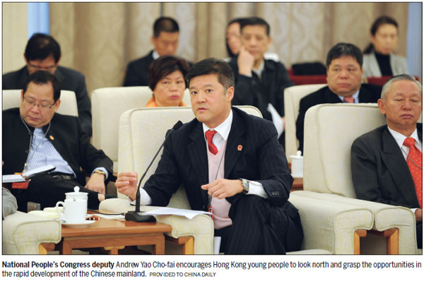Look north, HK youths told