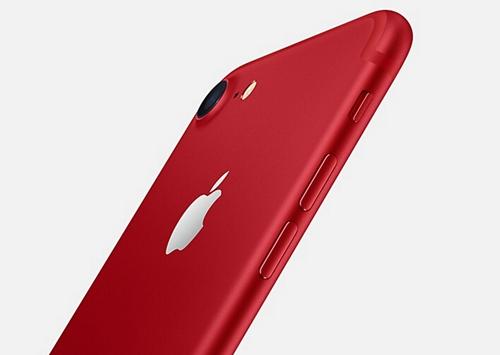 21日晚,苹果公司发布红色版iPhone 7和iPhone 7 plus。图片来源:苹果官网