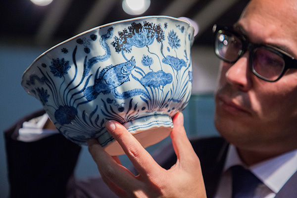 Auctioned Ming bowl heading for Shanghai exhibit