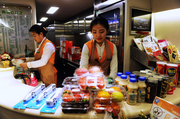 High-speed trains plan to improve meal choices