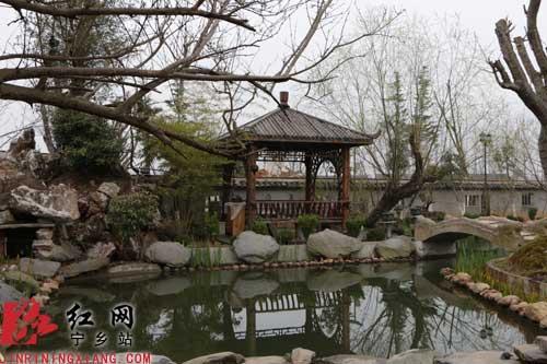 凉亭,假山,荷塘,为老宅增添园林气息图片