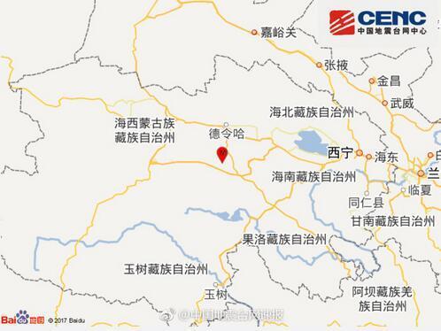 青海海西州都兰县发生3.0级地震震源深度9千米