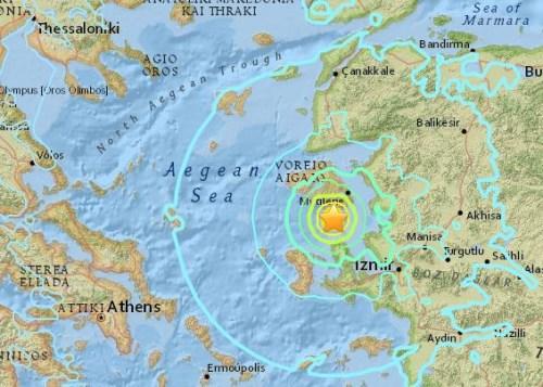 爱琴海发生里氏6.3级地震希腊至少10人受伤(图)