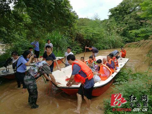 宁远县暴雨致多地受灾 各方全力抢险