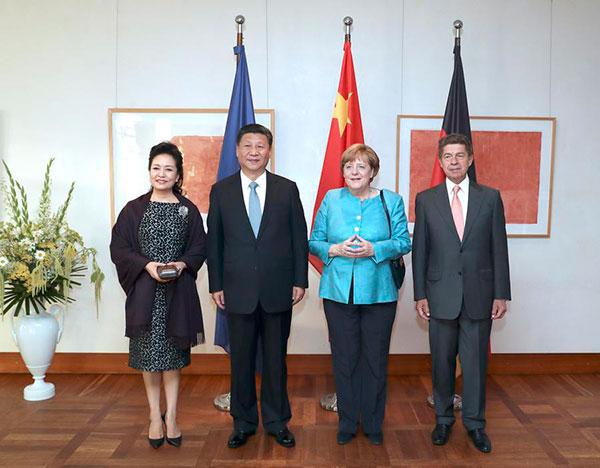 Xi, Merkel meetings productive