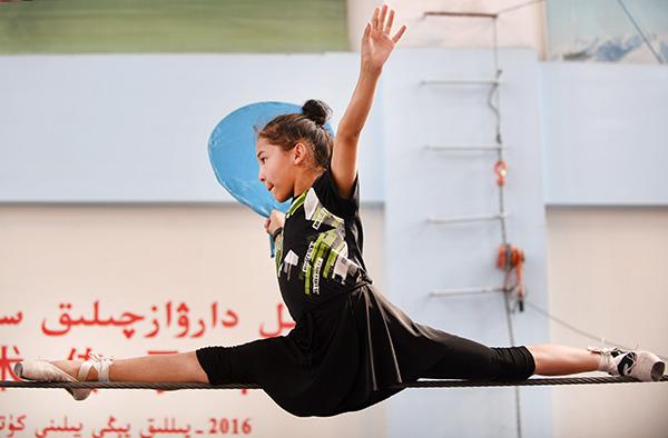 Meet Gulpiya Jelili, princess of the tightrope