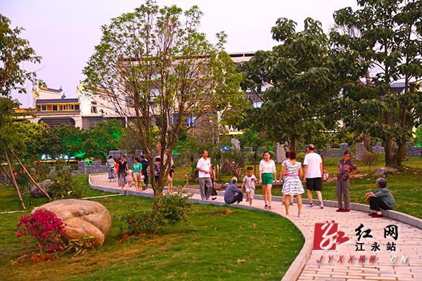 江永县建成廉政文化主题公园,退休干部赋诗点赞