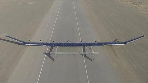 """""""彩虹""""太阳能无人机首次试飞"""