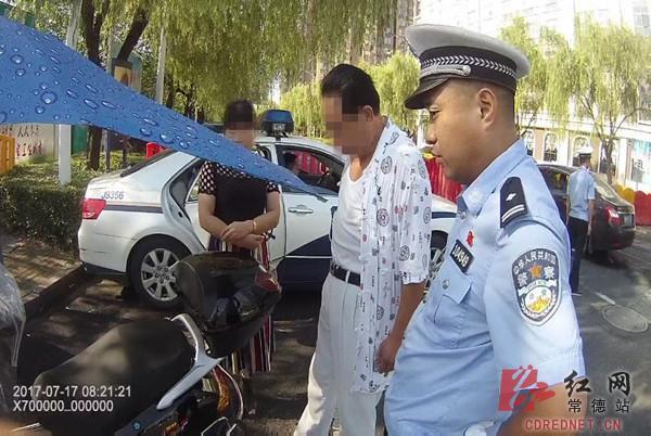 常德一摩托车驾驶员硬闯关 不听劝阻被拘