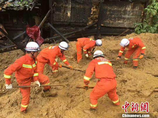 云南文山马关县发生滑坡致2人遇难(图)