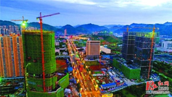 """湘西经开区尽力推进州庆重点项目设立建设 打造""""州府新城"""""""