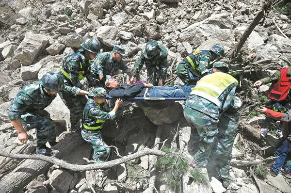 Response speedy to Sichuan quake