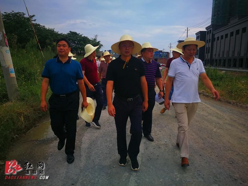 道县:刘勇会、李天明率队到潇水北路现场办公