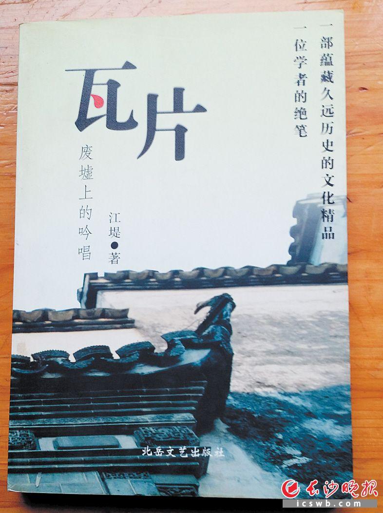 《瓦片》作者:江堤出版:北岳文艺出版社