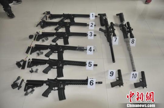 快递内发现枪支零件陕西警方破获一起网络贩枪案