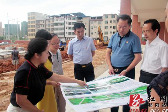 祁阳:周新辉、金彪调研城区学位建设