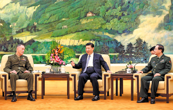 Xi, US military head discuss stability