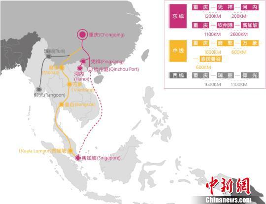 重庆东盟国际物流大通道构建初步成型(图)