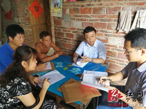 刘卫华在宁远县乡镇随机抽查扶贫驻村工作