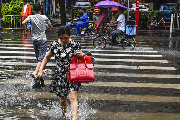 Typhoon Mawar rains more misery on Guangdong