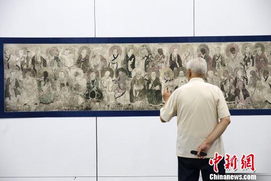 """""""千年丹青""""山西古代壁画掇英展在山西太原举行"""