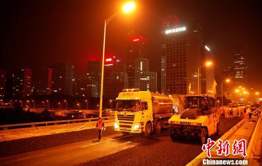 北京东三环道路大修主体完工新材料延长道路使用寿命