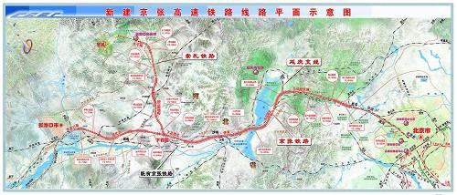 京张高铁示意图
