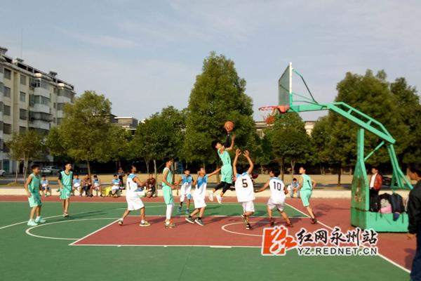 江永:举办中学生篮球赛 百余健儿展风采