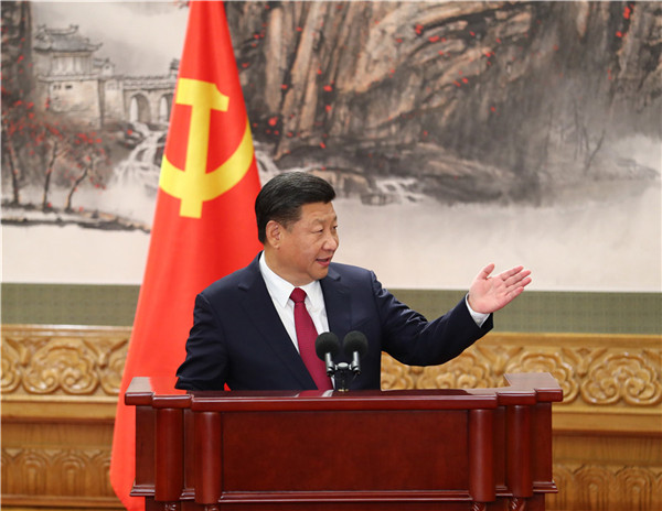 Xi introduces team, spells out his vision to media
