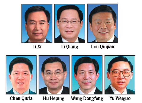 7 regional Party chiefs appointed