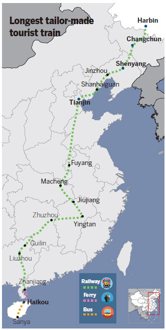 From far north to deep south, seniors relax on China's longest rail journey