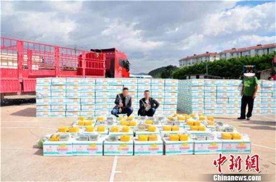 云南楚雄警方查获运毒案56吨香蕉中藏毒65公斤