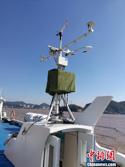 浙江首个水上客渡运船舶移动气象站建成投用(图)