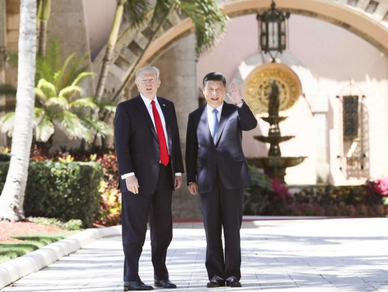 2017年4月7日,国家主席习近平在美国佛罗里达州海湖庄园同美国总统特朗普举行中美元首第二场正式会晤。