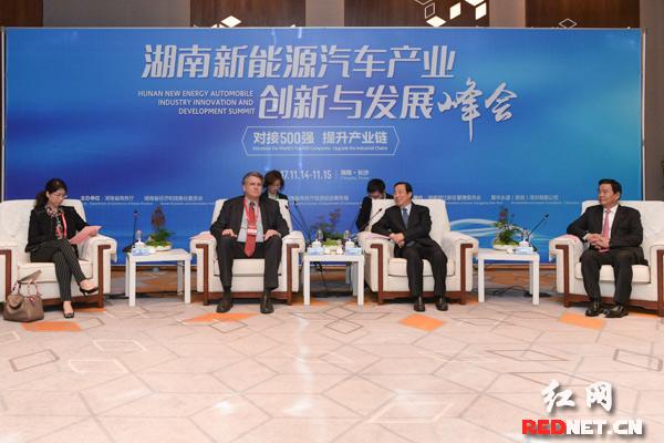 汽车整车--许达哲会见湖南新能源汽车产业创新与发展峰会部分参会嘉宾