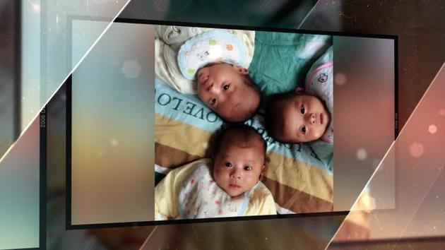 三胞胎宝贝