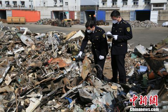 """2017年宁波口岸退运""""洋垃圾""""1.32万吨居中国第一"""