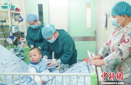 """两次配型成功武汉2岁白血病男孩盼来""""生命火种"""""""