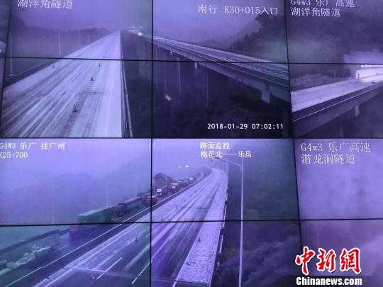 暴雪致广东多条高速公路北上交通中断